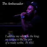 "Pray for me! About to turn it up on this album grind! ""We are ambassadors for Christ, God making his appeal through us."""